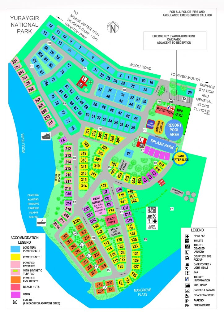 SOLITARY ISLANDS RESORT MAP 2019